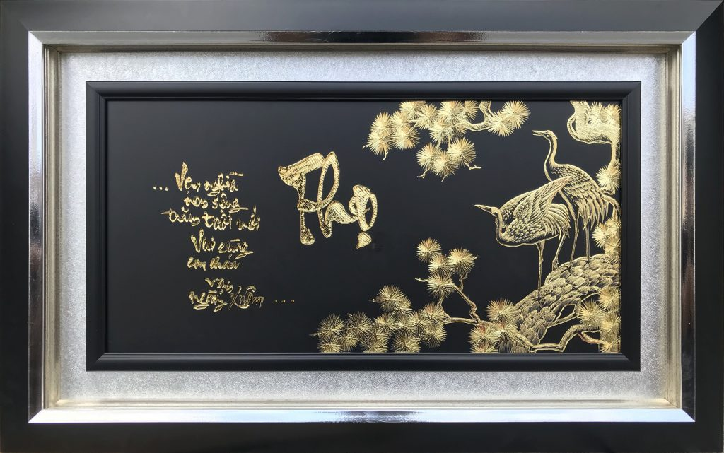 Tranh mừng Thọ (51x81cm)