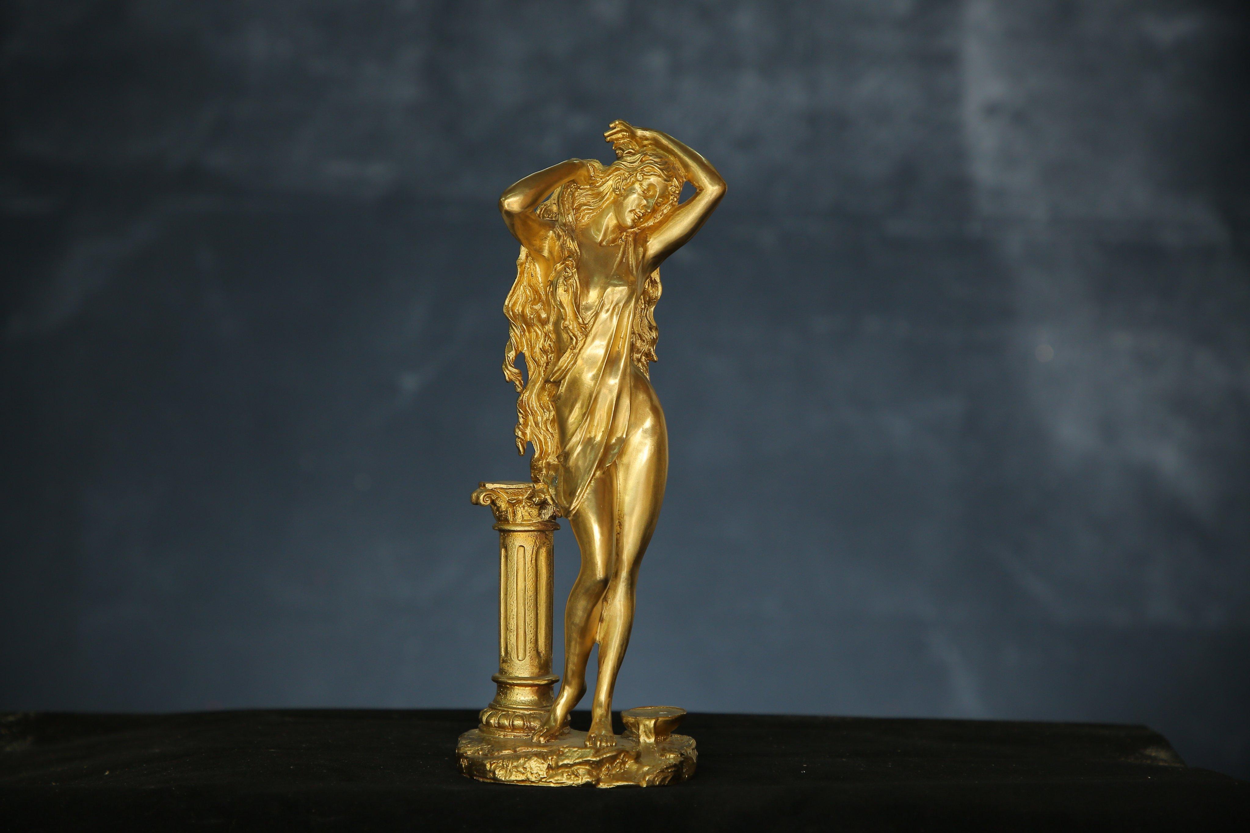 tượng đồng đúc Mạ vàng Sao Mai