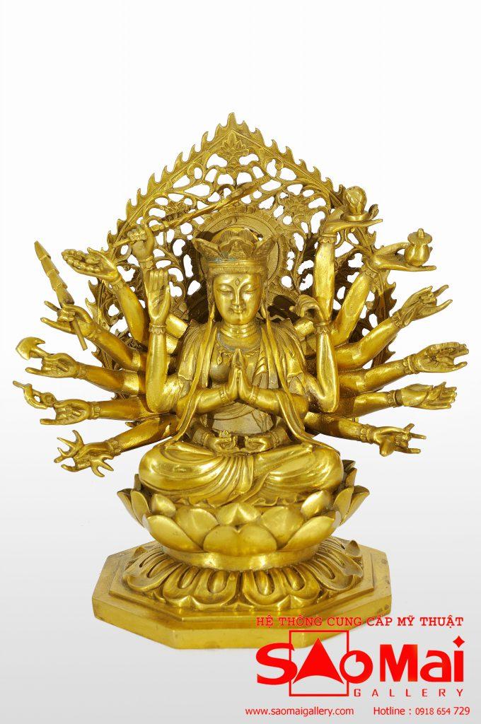Tượng Phật Nghìn Tay (39cm)