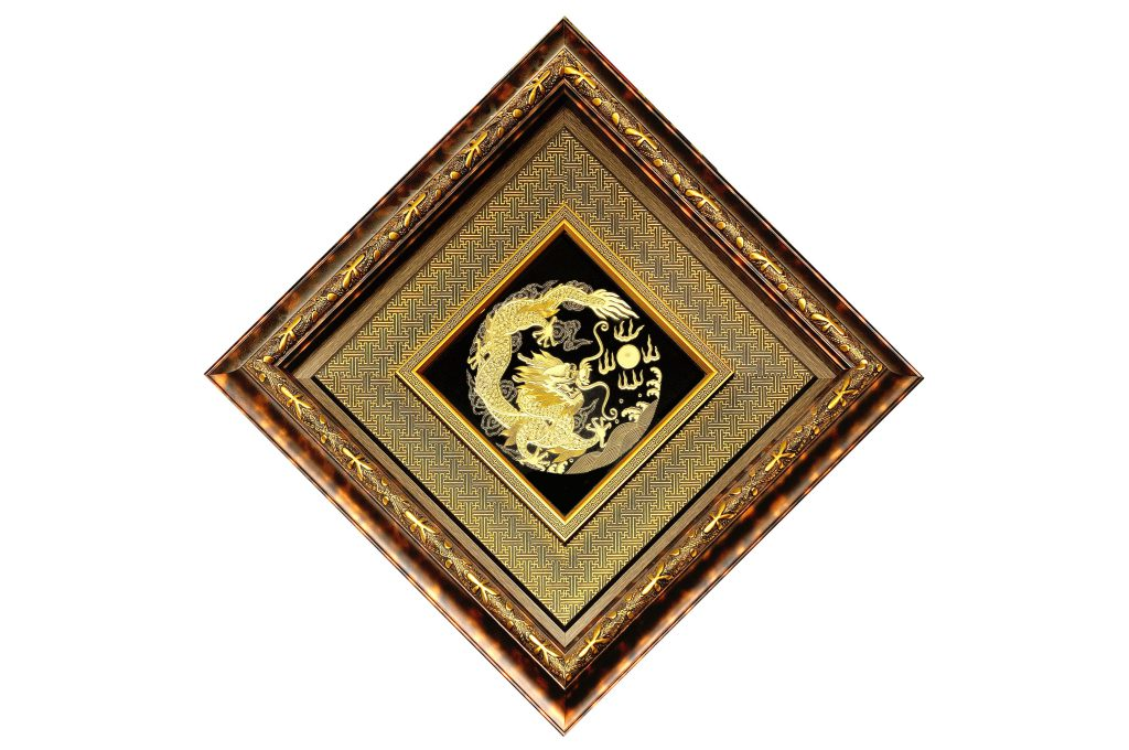 Tranh Long phun châu  (70x70cm)