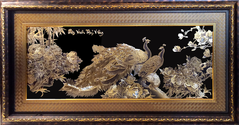 Tranh đồng mạ - dát vàng Mạ vàng Sao Mai