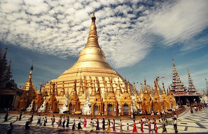 Chùa vàng Shwedagon (Yangon, Myanmar)