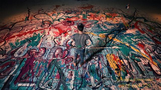 """Chiêm ngưỡng bức tranh dài hơn 1000m """"xô đổ"""" 4 kỷ lục thế giới"""