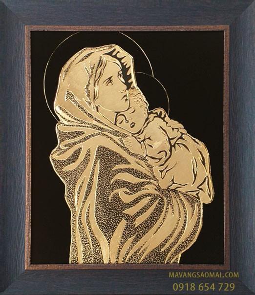 Đức Mẹ Bế Chúa con (51×61 cm)