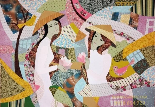 Tranh ghép vải Việt Nam - Kết tinh giữa truyền thống và hiện đại