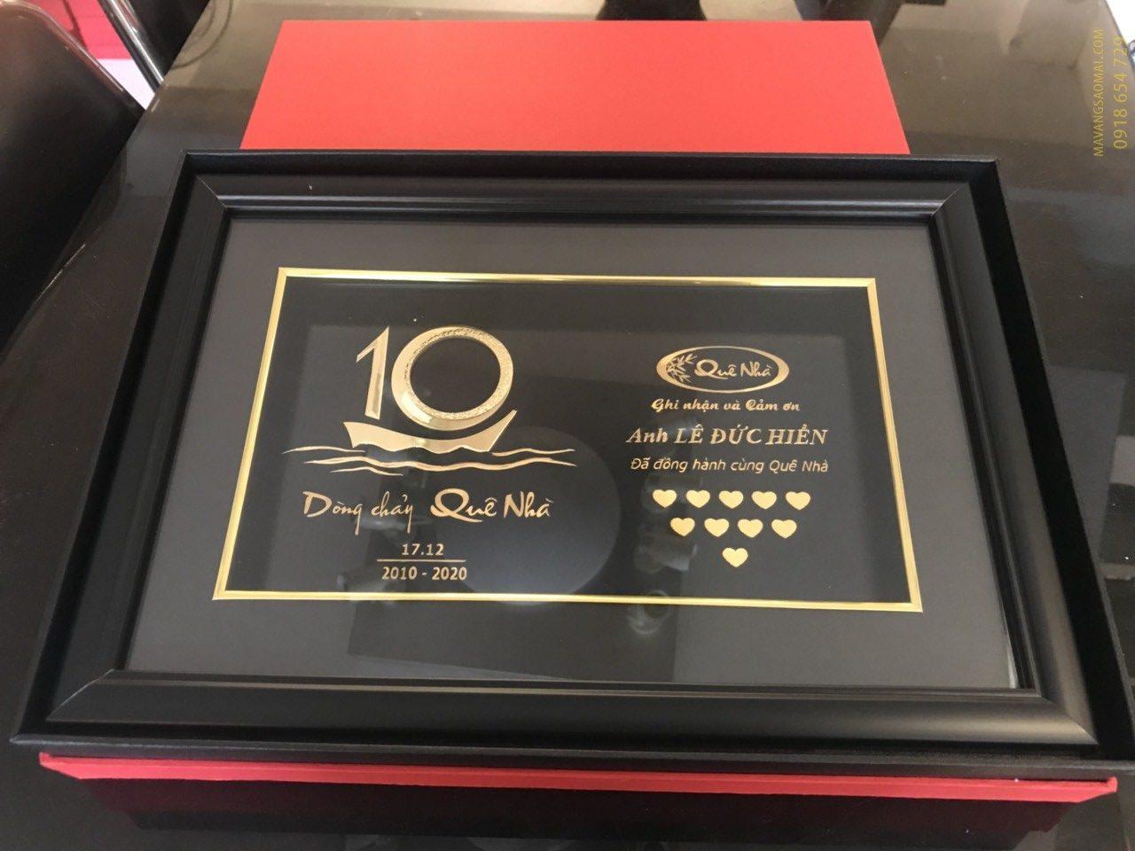 """Món quà kỉ niệm 10 năm thành lập của Nhà hàng Ẩm thực """"Quê Nhà"""""""