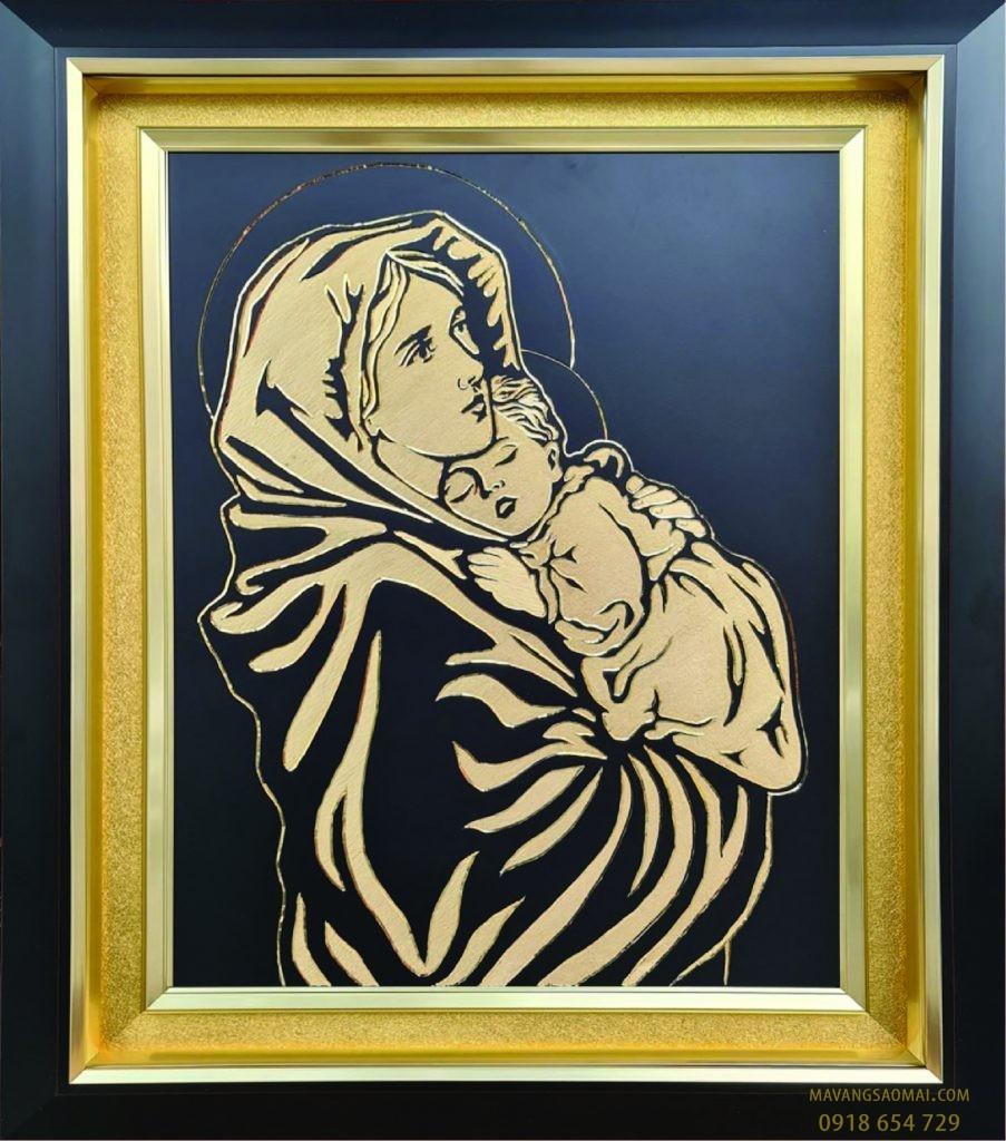 Đức Mẹ bồng Chúa con (62×72)