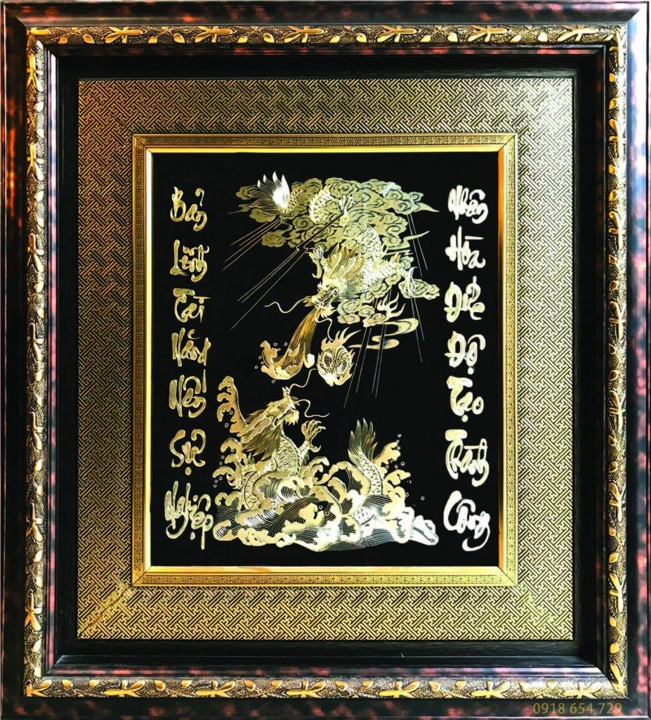 Song long tranh châu- bản lĩnh tài năng…(100×130 cm)