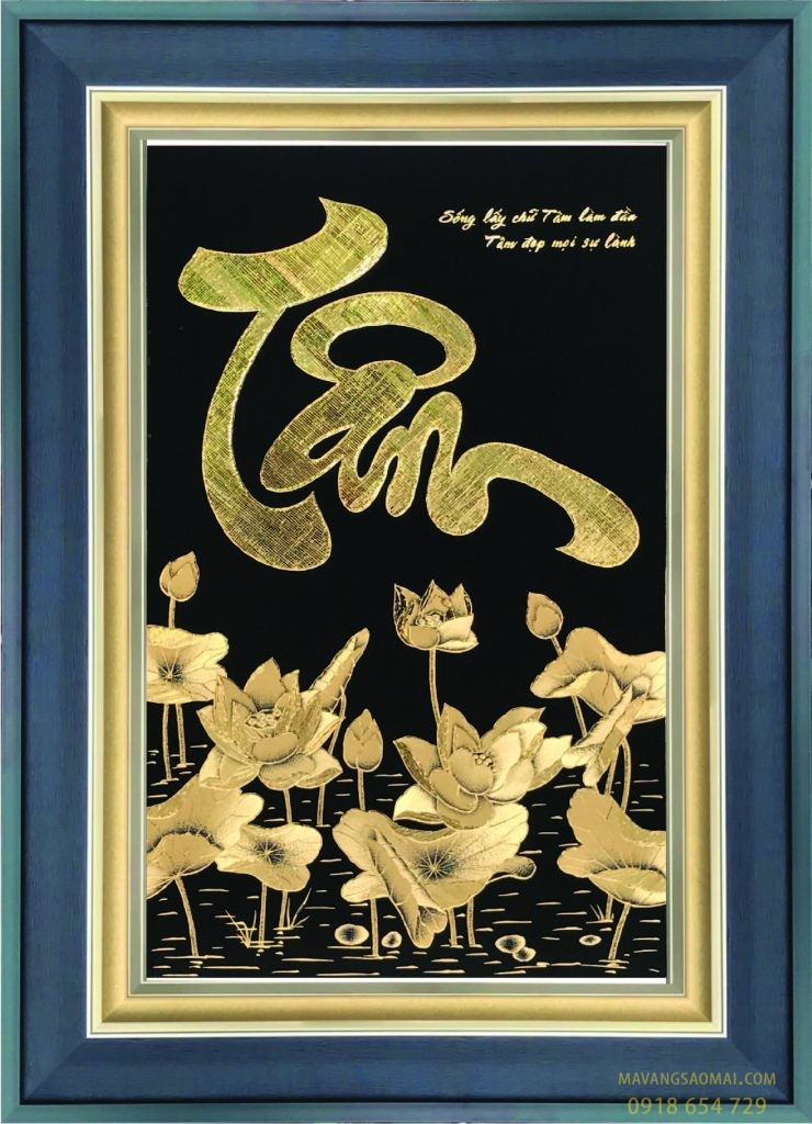 Tâm – hoa sen (76×106 cm)