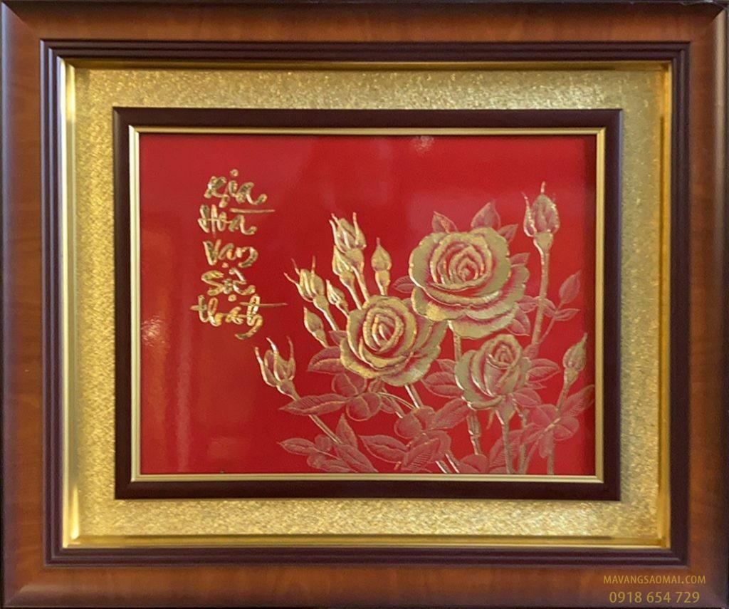 Gia hòa vạn sự thành – hoa hồng (51×61 cm)