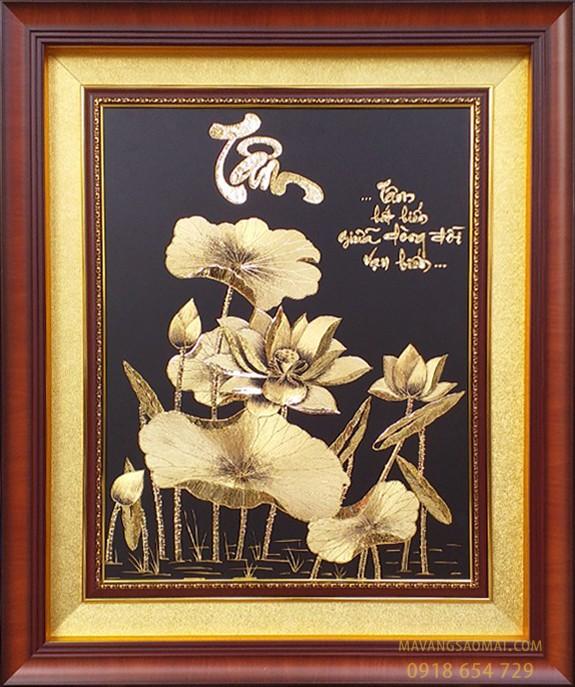 Tâm – hoa sen – tâm bất biến…(61×81 cm)